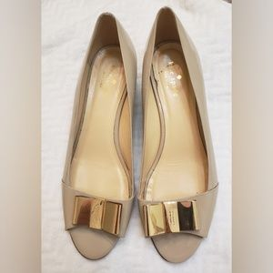 Kate Spade Vero Cuoio Open Toe Wedge Size 10